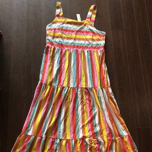 J. Crew maxi dress rainbow striped